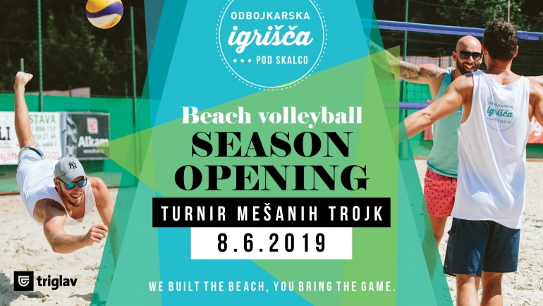Beach volleyball season opening